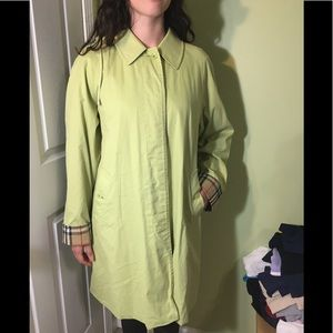 Lime green Burberry Coat